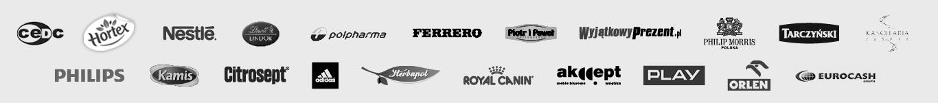 Logotypy firm, które współpracują z Accurate
